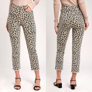 Amuse Society La Vida Leopard Print Crop Jeans 28